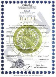 Contoh Sertifikat Halal